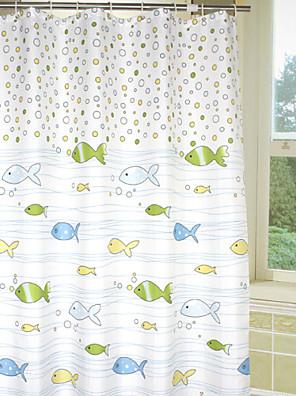 Dejlige tegneserie Bubble Fish badeforhæng