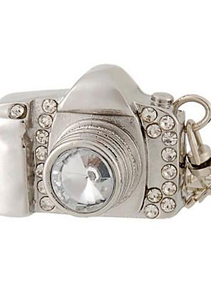 8 gb kamera design USB-flashdrev med rhinestone dekoration