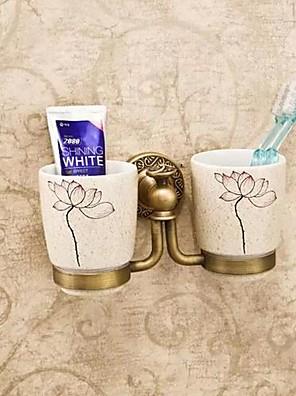 Tandbørsteholder Antik messing Vægmonteret 20*10*10cm(7.6*5*5inch) Messing / Keramik Antik
