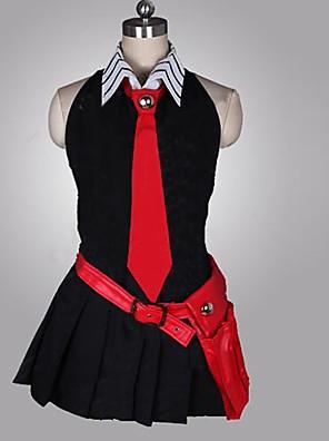 Inspirovaný Akame Ga zabít! Cosplay Anime Cosplay kostýmy Cosplay šaty Patchwork Czarny / Czerwony Bez rukávůK šatům / Kravata / Rukavice