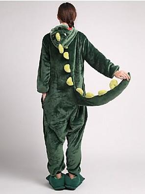 Kigurumi פיג'מות דינוזאור /סרבל תינוקותבגד גוף / נעלי בית פסטיבל/חג הלבשת בעלי חיים Halloween ירוק טלאים שמיכת פליז-קורל Kigurumi ל