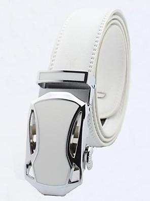 pánské originální obchodní kožený pásek bílé automatickou přezkou pásy