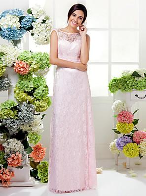 Lanting Bride® Na zem Krajka Mini já Šaty pro družičky - Pouzdrové Klenot Větší velikosti / Malé s Sklady