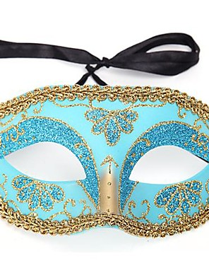Máscara Princesa Festival/Celebração Trajes da Noite das Bruxas Vermelho / Rosa / Azul / Tinta Azul Estampado Máscara Dia Das Bruxas