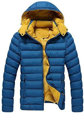 mænds hætteklædte bomuld polstret tøj frakke