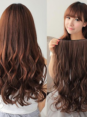syntetisk lang wave 5 clip-in hair extension