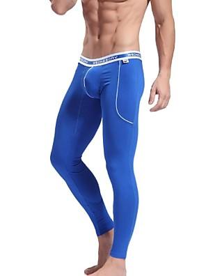 fibra de bambu keep confortável cintura baixa leggings moda apertado dos homens