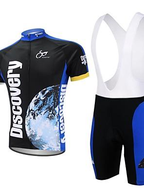 XAOYO® חולצת ג'רסי ומכנס קצר ביב לרכיבה לגברים שרוול קצר אופניים ייבוש מהיר / כיס אחורי מכנסיים קצרים / ג'רזי / מדים בסטיםפוליאסטר / 100%