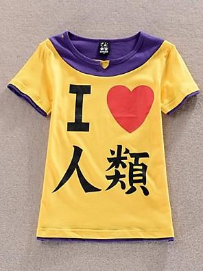 Inspirovaný No Game No Life Cosplay Anime Cosplay kostýmy Cosplay T-shirt Patchwork / Tisk Żółty / Fialová Krátké rukávy Trička