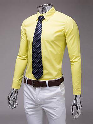 חולצה צהובה דקה בכושר ארוכה שרוול