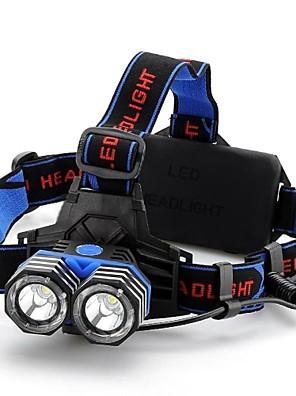 תאורה פנסי ראש LED 1600 Lumens 4 מצב Cree XM-L T6 18650 / AAA אחיזה נגד החלקה מחנאות/צעידות/טיולי מערות / רכיבה על אופניים / ציד / טיפוס