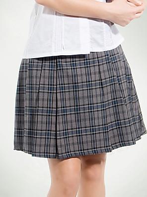 školní uniformy šedá Tattersall skládaná sukně