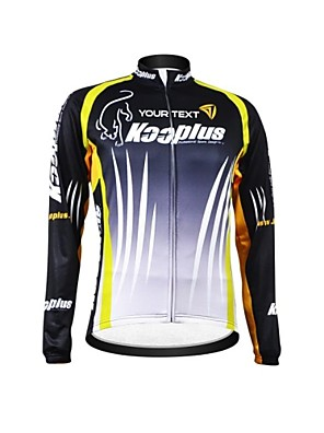 KOOPLUS® חולצת ג'רסי לרכיבה לנשים / לגברים / יוניסקס שרוול ארוך אופנייםנושם / שמור על חום הגוף / רוכסן עמיד למים / לביש / רצועות מחזירי