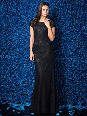 ts couture® muodollinen ilta / smokki gaala mekko plus koon / pieni / vahvike koru kokopitkiin pitsi pitsi