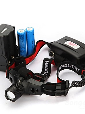 תאורה פנסי ראש LED 300 Lumens 3 מצב 18650 עמיד למים / ניתן לטעינה מחדשמחנאות/צעידות/טיולי מערות / שימוש יומיומי / רכיבה על אופניים / ציד