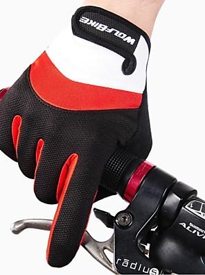 כפפות כפפות ספורט/ פעילות לגברים / כל כפפות רכיבה סתיו / חורף כפפות אופניים שמור על חום הגוף / נגד החלקה / חסין זעזועים / נושם / מגןעל כל