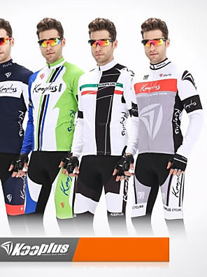 KOOPLUS® ג'קט ומגנסיים לרכיבה לגברים שרוול ארוך אופנייםנושם / שמור על חום הגוף / עיצוב אנטומי / רוכסן קדמי / רצועות מחזירי אור / כיס
