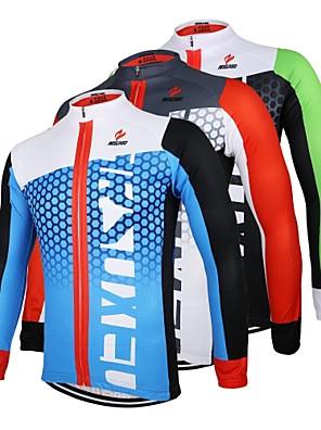 Arsuxeo® חולצת ג'רסי לרכיבה לגברים שרוול ארוך אופניים נושם / ייבוש מהיר / עיצוב אנטומי / רוכסן קדמי ג'רזי / צמרות 100% פוליאסטר טלאיםאביב