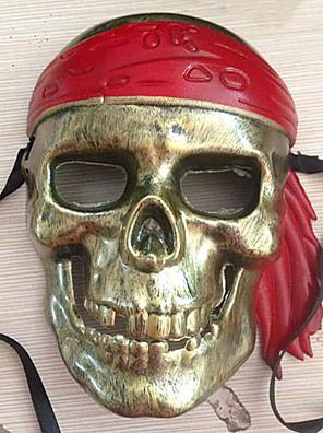 Maska Pirát Festival/Svátek Halloweenské kostýmy Hnědá Tisk Maska Halloween / Karneval / Nový rok Unisex PVC
