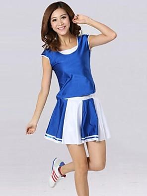 תלבושות למעודדות תלבושות בגדי ריקוד נשים ביצועים / אימון כותנה / פוליאסטר שרוול קצר טבעי S:73CM,M:75CM,L:78CM,XL:80CM