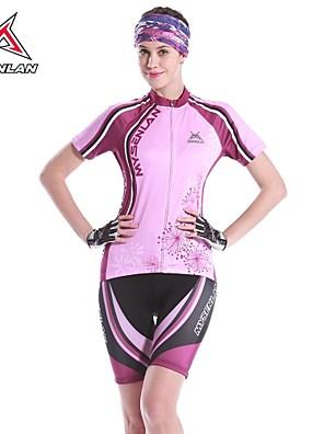 MYSENLAN® Cyklodres a kraťasy Dámské Krátké rukávy Jezdit na koleProdyšné / Rychleschnoucí / Anatomický design / Odolný vůči UV záření /