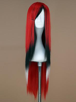 Lolita Wigs Punk Lolita Zářící barvy Dlouhé Červená / Bílá / Černá Lolita Paruky 75 CM Cosplay Paruky Patchwork Paruka Pro Dámské