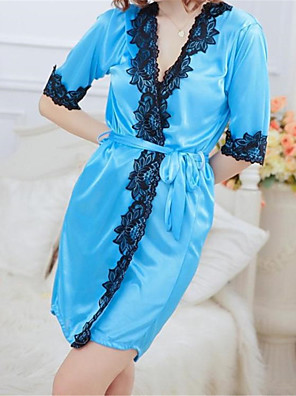 SKLV Women's Lace/Ice Silk Lace Lingerie/Robes/Ultra Sexy/Suits Nightwear