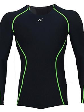 חולצת ג'רסי לרכיבה לגברים שרוול ארוך אופניים נושם / ייבוש מהיר / לביש / נגד חשמל סטטי / ללא חשמל סטטי / דחיסה Suit דחיסה / צמרותאלסטיין /