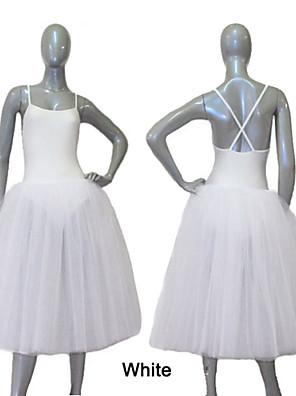 בלט שמלות וחצאיות בגדי ריקוד נשים / בגדי ריקוד ילדים ביצועים / אימון ניילון / טול / לייקרה חלק 1 שמלות