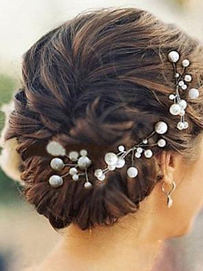 6pcs סיכות ראש headpieces החתונה פנינה