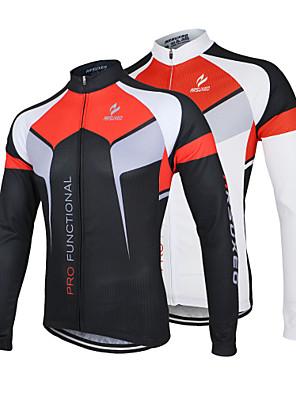 Arsuxeo® חולצת ג'רסי לרכיבה לגברים שרוול ארוך אופניים נושם / ייבוש מהיר / עיצוב אנטומי / רוכסן קדמי / נגד חשמל סטטי / מגביל חיידקיםג'רזי