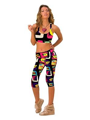 calças de yoga Leggings / Conjuntos de Roupas/Ternos Secagem Rápida / Vestível / Compressão / Resistente ao Choque Natural StretchyWear