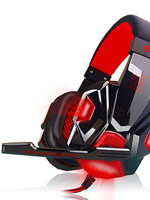 plextone pc780 luminosos fones de ouvido com fio cabeça com microfone de volume de jogo controle de ruído de cancelamento