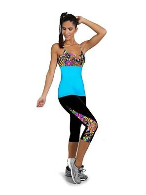 Corrida Leggings / 3/4 calças justas / Calças / Fundos Mulheres Secagem Rápida / Vestível / Compressão / Resistente ao Choque Elastano