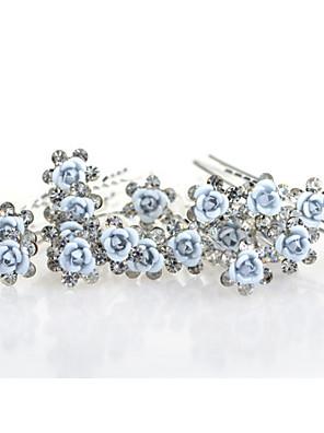 20pcs עלה פרח u לעצב סיכות ראש headpieces החתונה פרח