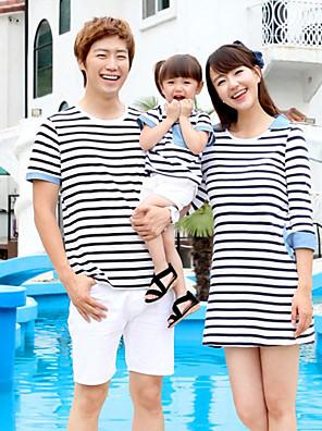 Léto Family Soupravy oblečení Mikro elastické Střední Bavlna Krátký rukáv