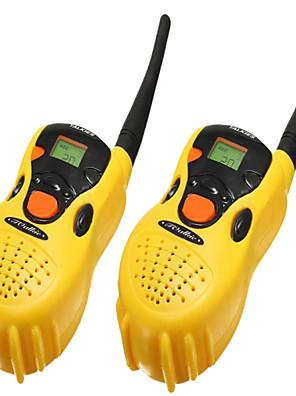 2 stuks draagbare plastic speelgoed walkie-talkie