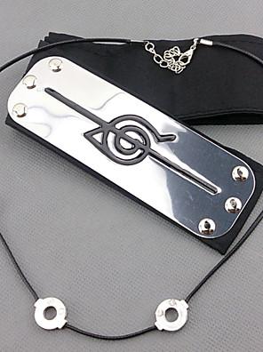 תכשיטים / אביזר לשיער קיבל השראה מ Naruto Itachi Uchiha אנימה אביזרי קוספליי רצועת ראש כסף זכר / נקבה