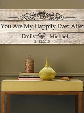 e-Home® personlig signatur lærred ramme-du er min lykkeligt