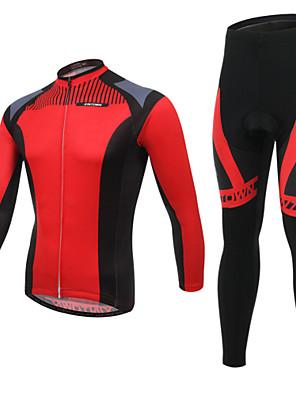 Calça com Camisa para Ciclismo Homens Manga Comprida MotoRespirável / Resistente Raios Ultravioleta / Vestível / Tapete 3D / Bolso