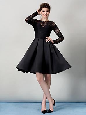 TS Couture® Cocktail Party / Company Party Dress Plus Size / Petite A-line Bateau Knee-length Lace with Lace