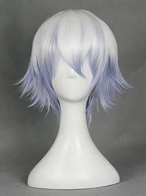 פאות קוספליי Gintama Gintoki Sakata לבן קצרה אנימה פאות קוספליי 30 CM סיבים עמידים לחום זכר / נקבה