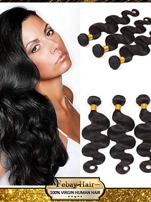 """8 """"-30"""" brazilian maagd haar body wave human hair extensions 100% onbewerkt brazilian remy haar weefsel"""