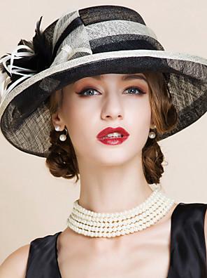 נשים מסיבה קיץ פשתן כובע קלושה\עם שוליים רחבים