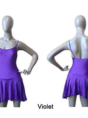 בלט שמלות וחצאיות בגדי ריקוד נשים / בגדי ריקוד ילדים ביצועים / אימון ניילון / לייקרה צד עטויים חלק 1 שמלות As the Size Chart