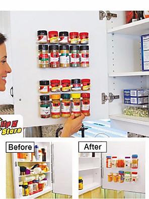 klip n butik køkken flasker krydderi arrangør rack kabinet dør krydderi clips 20-klip sæt