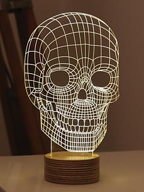 kreativní 3d barevné LED stereo a obývací pokoj ložnice atmosféra lampa