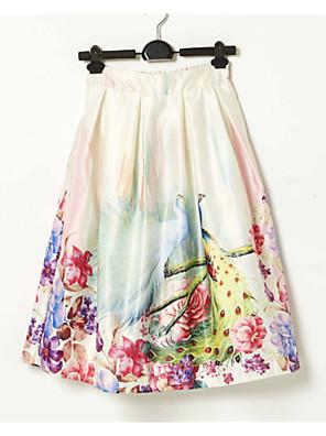 Dámské Vintage / Běžné nošení Midi Polyester Lehce elastické Sukně