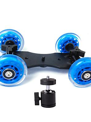 tabletop profissional DSLR câmera dolly controle deslizante skater caminhão roda estabilizador para 5d2 eos vídeo + pequeno PTZ geral