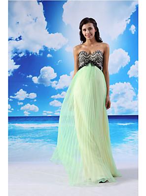 ts couture® noche formal del vestido de una línea de novia palabra de longitud de encaje / organza / satinado con